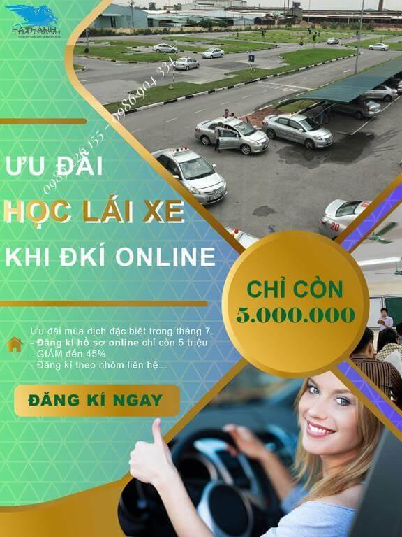 Ưu đãi học lái xe khi đăng ký online
